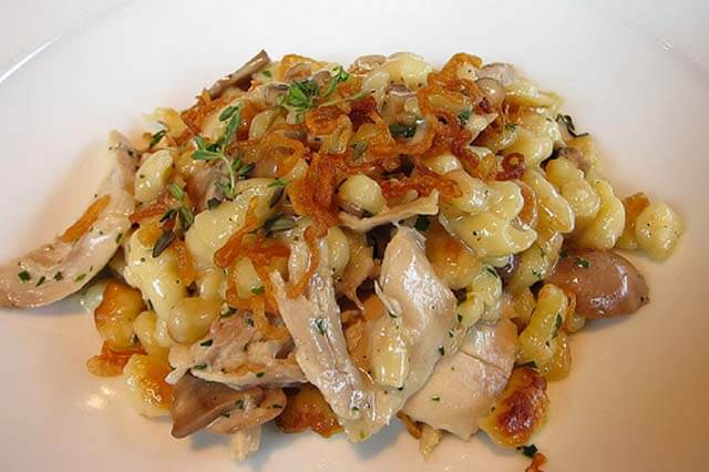 Chicken and Mushroom Spaetzle