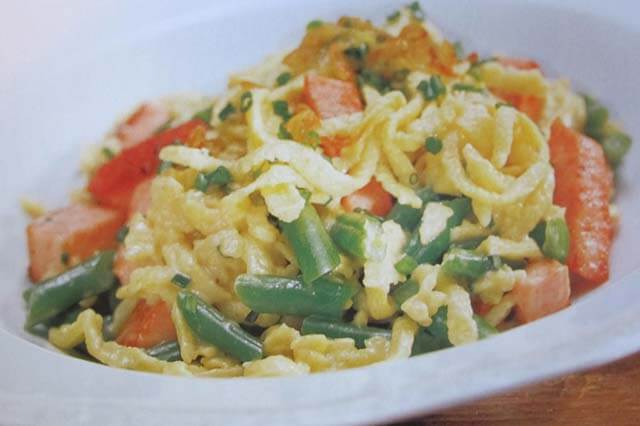 Garlic Chive and Cheese Spaetzle
