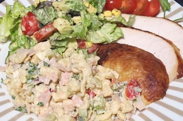 Mediterranean Spaetzle Salad